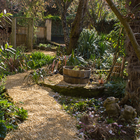 Down the garden path.